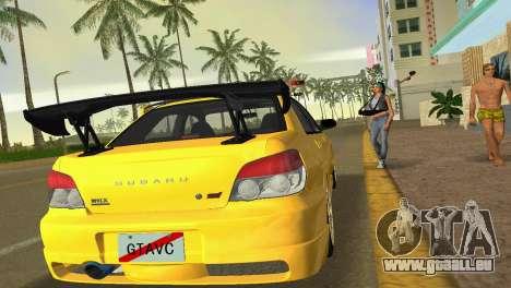 Subaru Impreza WRX STI 2006 Type 4 für GTA Vice City Rückansicht