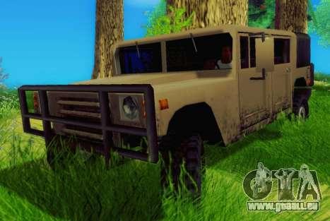 New Patriot pour GTA San Andreas sur la vue arrière gauche