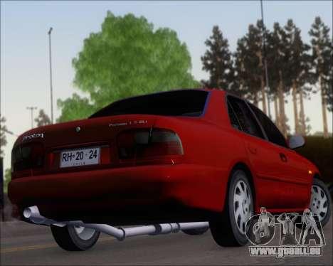Proton Persona 1996 1.5 Gli pour GTA San Andreas vue de dessous