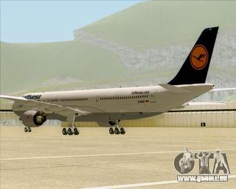 Airbus A330-300 Lufthansa für GTA San Andreas Rückansicht