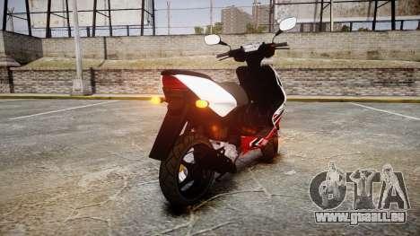 Yamaha Aerox R pour GTA 4 Vue arrière de la gauche