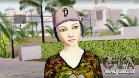 Adulte Clémentine pour GTA San Andreas troisième écran