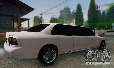 Proton Wira Official Malaysian Limousine pour GTA San Andreas laissé vue