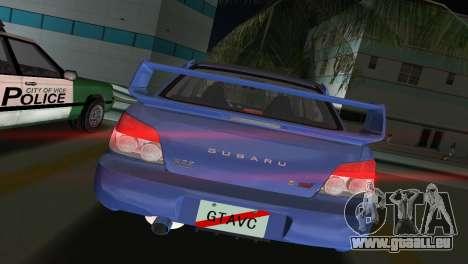 Subaru Impreza WRX STI 2006 Type 1 pour GTA Vice City sur la vue arrière gauche