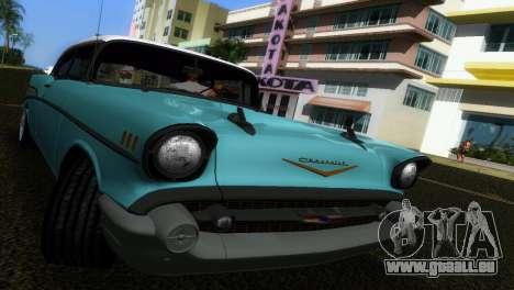 Chevrolet BelAir 1957 pour GTA Vice City vue arrière