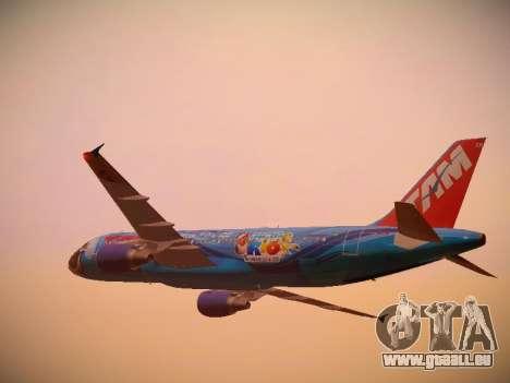 Airbus A320-214 TAM Airlines RIO pour GTA San Andreas vue de dessous