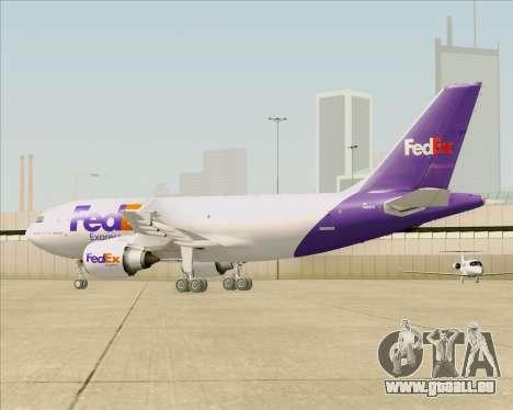 Airbus A310-300 Federal Express pour GTA San Andreas vue de dessous