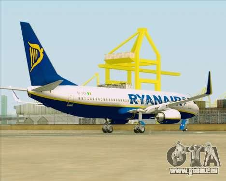Boeing 737-8AS Ryanair für GTA San Andreas rechten Ansicht
