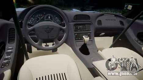 Chevrolet Corvette Z06 (C5) 2002 v2.0 pour GTA 4 est une vue de l'intérieur