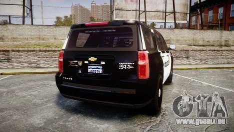 Chevrolet Tahoe 2015 LCPD [ELS] pour GTA 4 Vue arrière de la gauche