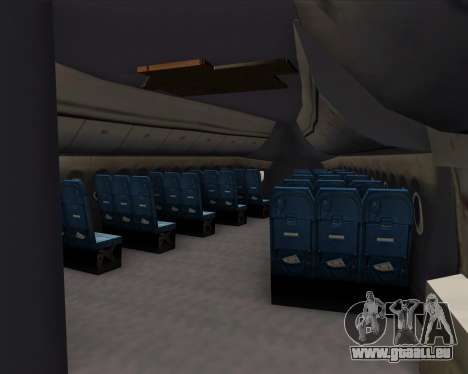 Boeing 747-8 Intercontinental United Airlines pour GTA San Andreas moteur