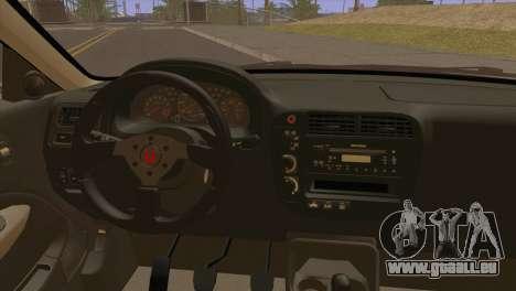 Honda Civic EM1 pour GTA San Andreas sur la vue arrière gauche