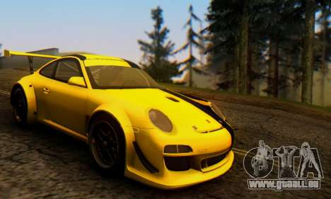 Porsche 911 GT3 R 2009 Black Yellow für GTA San Andreas