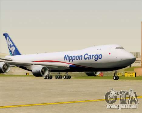 Boeing 747-8 Cargo Nippon Cargo Airlines pour GTA San Andreas vue arrière