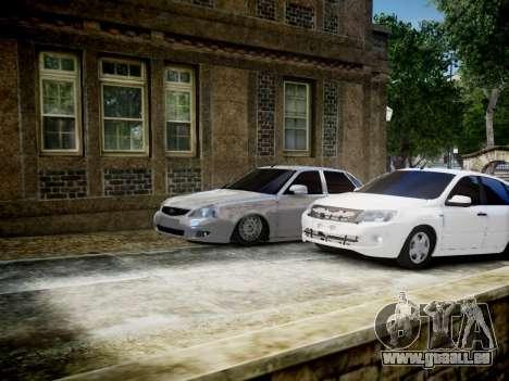 Lada Granta Liftback pour GTA 4 vue de dessus