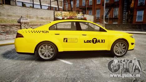 GTA V Vapid Taurus Taxi LCC für GTA 4 linke Ansicht