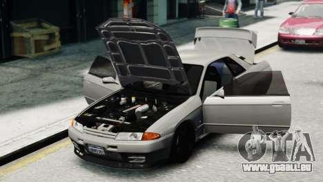 Nissan Skyline R32 GT-R pour GTA 4 Vue arrière de la gauche