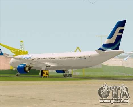 Airbus A330-300 Finnair (Old Livery) pour GTA San Andreas vue de droite