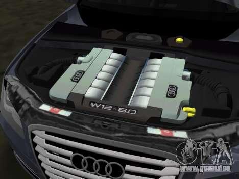 Audi A8 2010 W12 Rim3 pour GTA Vice City vue de dessous