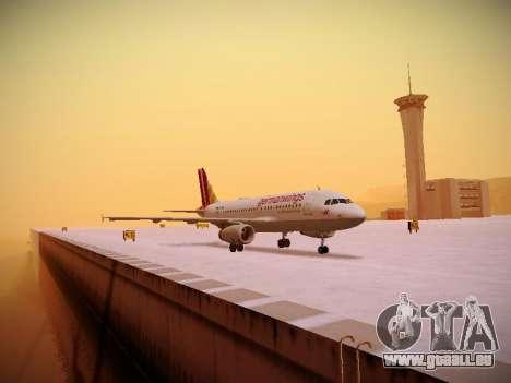 Airbus A319-132 Germanwings für GTA San Andreas zurück linke Ansicht