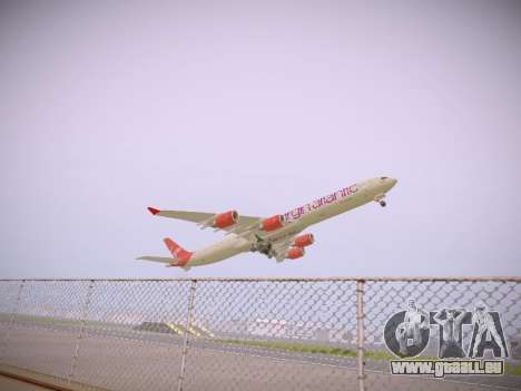 Airbus A340-600 Virgin Atlantic New Livery für GTA San Andreas Rückansicht
