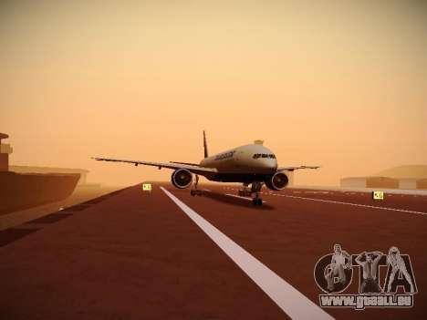 Boeing 777-212ER Transaero Airlines für GTA San Andreas Seitenansicht