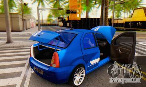 Dacia Logan Tuning Rally (B 48 CUP) pour GTA San Andreas vue de dessus
