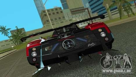 Pagani Zonda Cinque für GTA Vice City Rückansicht