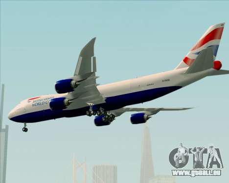 Boeing 747-8 Cargo British Airways World Cargo für GTA San Andreas Räder