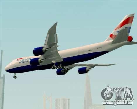 Boeing 747-8 Cargo British Airways World Cargo für GTA San Andreas Räder