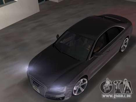 Audi A8 2010 W12 Rim3 pour une vue GTA Vice City de la droite