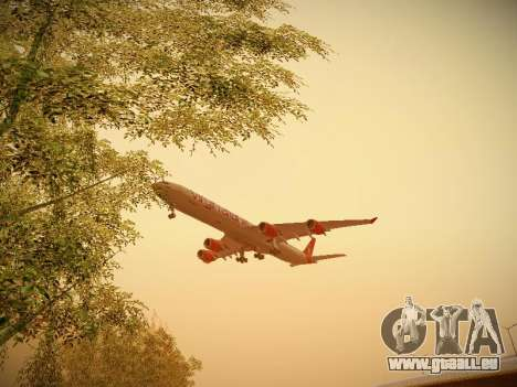 Airbus A340-600 Virgin Atlantic New Livery für GTA San Andreas Innenansicht