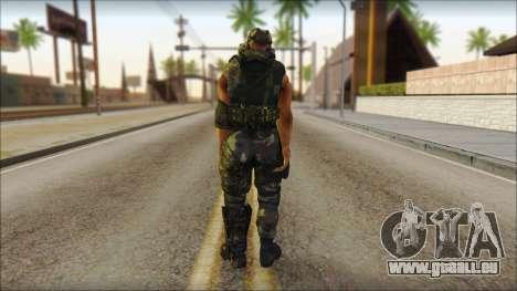 Claude Resurrection Skin from COD 5 v2 für GTA San Andreas zweiten Screenshot
