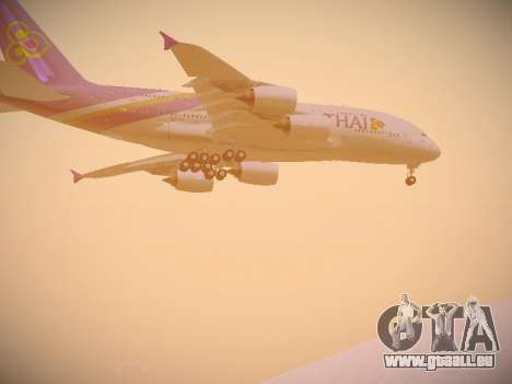 Airbus A380-800 Thai Airways International für GTA San Andreas Innenansicht