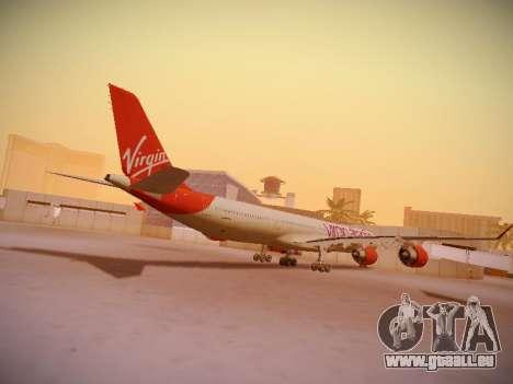 Airbus A340-600 Virgin Atlantic New Livery für GTA San Andreas rechten Ansicht