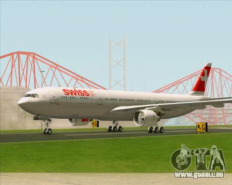 Airbus A330-300 Swiss International Air Lines pour GTA San Andreas vue intérieure