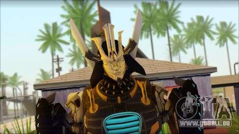 Дрифт (Transformers: Rise of the Dark Spark) pour GTA San Andreas troisième écran