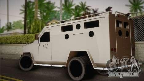 FBI Armored Vehicle v1.2 für GTA San Andreas linke Ansicht