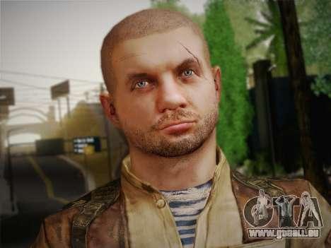 Paul (Metro Last Light) pour GTA San Andreas troisième écran