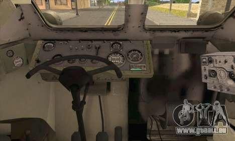 BRDM-2 from ArmA Armed Assault pour GTA San Andreas sur la vue arrière gauche