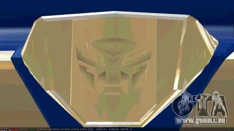 Peterbilt 379 Optimus Prime für GTA San Andreas Rückansicht