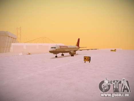 Airbus A319-132 Germanwings pour GTA San Andreas laissé vue