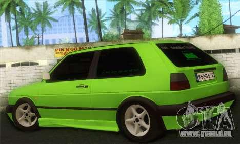 Volkswagen Golf Mk2 Zelengija für GTA San Andreas linke Ansicht