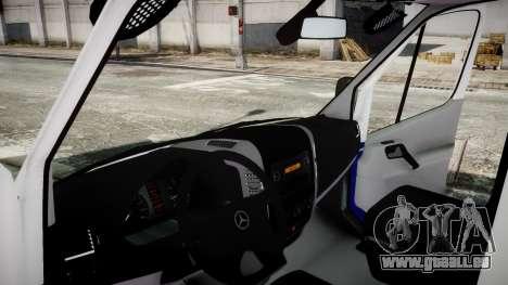 Mercedes-Benz Sprinter Police 2014 pour GTA 4 Vue arrière de la gauche