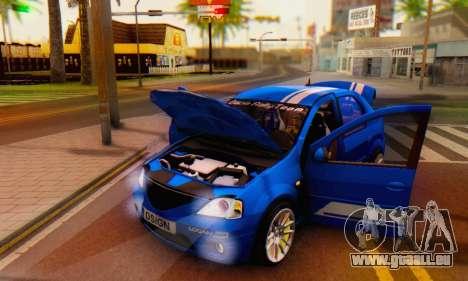 Dacia Logan Tuning Rally (B 48 CUP) pour GTA San Andreas vue de côté