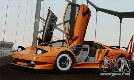 Lamborghini Diablo SV 1995 (HQLM) pour GTA San Andreas sur la vue arrière gauche