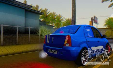 Dacia Logan Tuning Rally (B 48 CUP) pour GTA San Andreas laissé vue