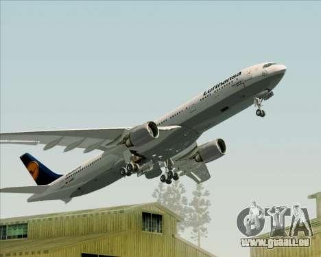 Airbus A330-300 Lufthansa für GTA San Andreas Räder