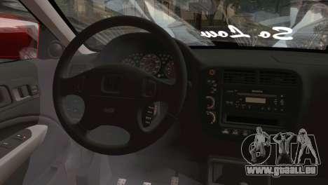 Honda Civic 1999 für GTA San Andreas zurück linke Ansicht