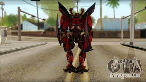 Dino Mirage (transformers Dark of the moon) v1 pour GTA San Andreas deuxième écran